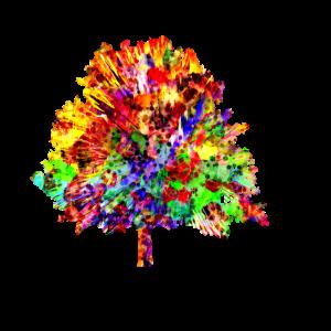 Buntes Baum Design Geschenkidee Natur