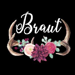 Brautshirt Geweih Boho