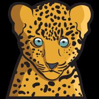Baby Leopard Jungtier im Tierreich Geschenk