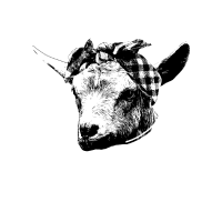 Hippe Ziege mit Bandana auf dem Bauernhof T-Shirt