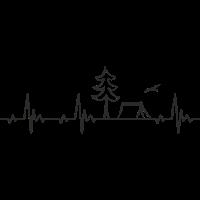 Camping Zelt Heartbeat Frequenz Puls EKG
