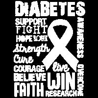 Diabetes-Bewusstseins-T-Shirt