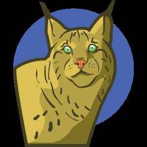 Wild Cat Luchs als Wildkatze mit Pinselohren Katze