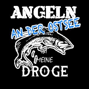 Angeln an der Ostsee! Lustiges Angler-Shirt
