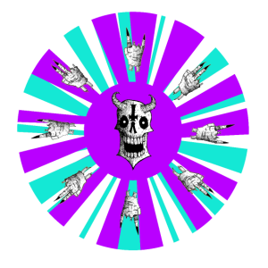 The Wheel (Purple and Tourquoise)