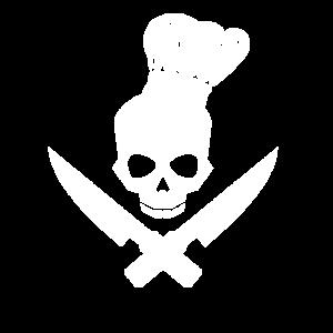 Messer, Kochmütze, Totenkopf, Koch, kochen