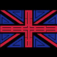 Britische Flagge Tribal