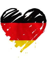 Fan-Shirt: Coeur Allemagne Heart Deutschland
