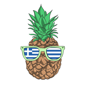 Greece Shirt Pineapple Griechenland