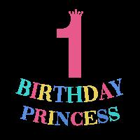 Birthday Princess Kinder Geburstag 1 Prinzessin