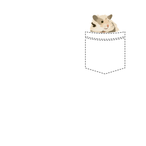 Cooler Hamster in deiner Tasche Geschenk
