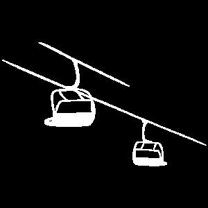 Sessellift MODERN Skifahren Lift Skilift Berge