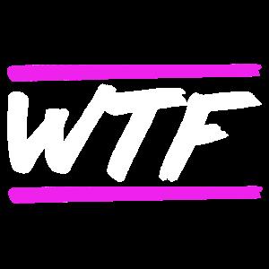 WTF Neon Buchstaben