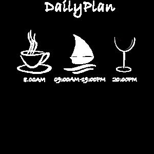 Tages Plan Segeln Hobby Geschenk Idee
