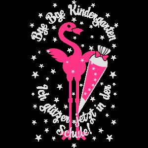 24 Flamingo Bye Kindergarten Ich glitzer in Schule