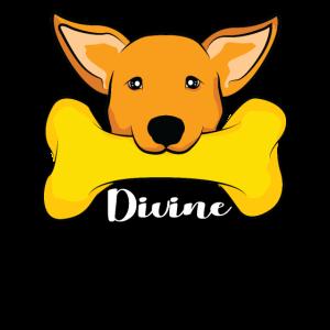 Himmlischer Hund mit Knochen Hunde Welpe Geschenk