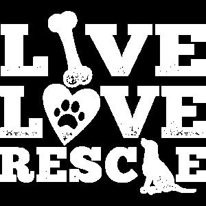 Rettungs-Tierhemd verlassener Hund Liveliebesrettung