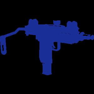 Uzi Maschinenpistole Silhouette
