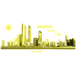 Abu Dhabi Skyline Emirate Summer