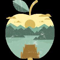 Vintage Panorama Apfel