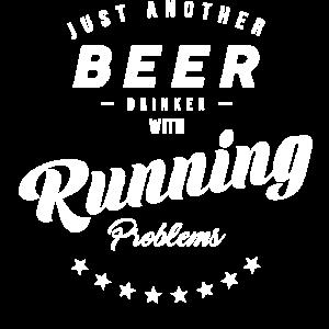 Joggen Rennen Laufen Läufer Bier trinken Alkohol