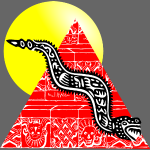 serpent et pyramide sous le soleil