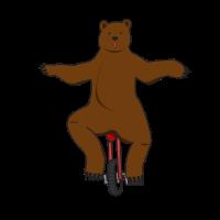 Zirkus Bär Einrad Geschenkidee