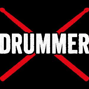 DRUMMER Schlagzeuger Geschenk Trommler