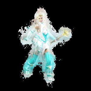 Anime 3d Krieger hell glühend