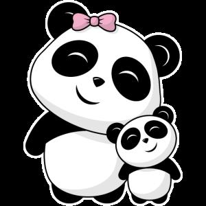 Niedliche Pandas Panda Geschwister Freunde Familie