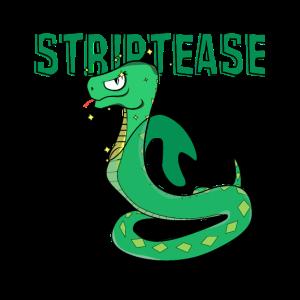 Striptease Ausziehen Schlange häuten Scherz