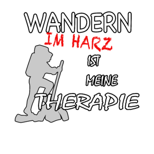 Lustiges Shirt:Wandern im Hartz ist meine Therapie