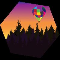 Ballon im Wald