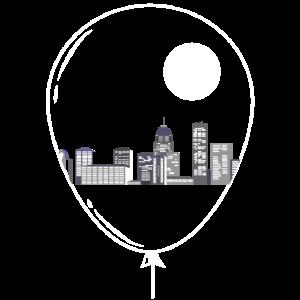 Die Stadt im Luftballon