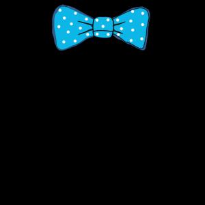Fliege Anzug Krawatte Anzughose Blazer blau-weiß
