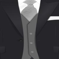 Anzug Krawatte Verkleidung Weste Täuschung Sakko