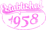 Jahrgang 1950 Geburtstagsshirt: established 1958 dd