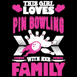 Dieses Mädchen liebt Pin Bowling Shirt