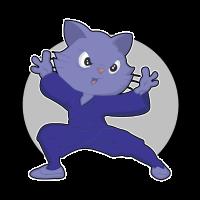 Katze Kung Fu Karate Ninja Kampfsport Kinder