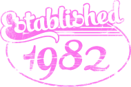 Jahrgang 1980 Geburtstagsshirt: established 1982 dd