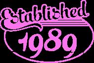 Jahrgang 1980 Geburtstagsshirt: established 1989 dd