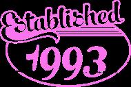 Jahrgang 1990 Geburtstagsshirt: established 1993 dd