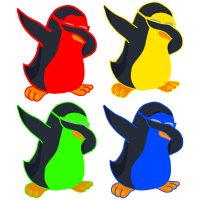 4 Lustige Pinguin - Dabbing Penguin Dab