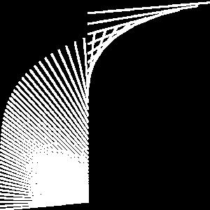 Gebogene Linien 3 (weiß)