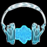 Musik Frequenz Kopfhörer Welle / Music Wave Headphone / digital blau/