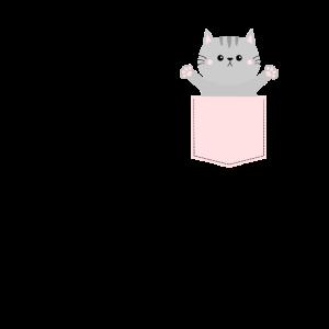 Katze in Brusttasche