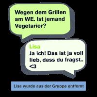 Vegetarier Chatverlauf