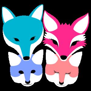 Fuchs niedliche Familien-Kollektion Eltern Kinder