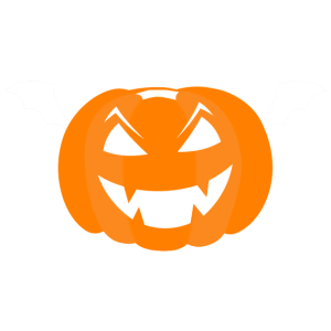 Gruseliger Kürbis - Halloween