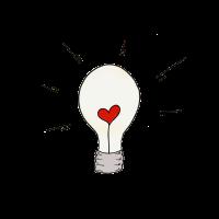 Herz in Glühbirne